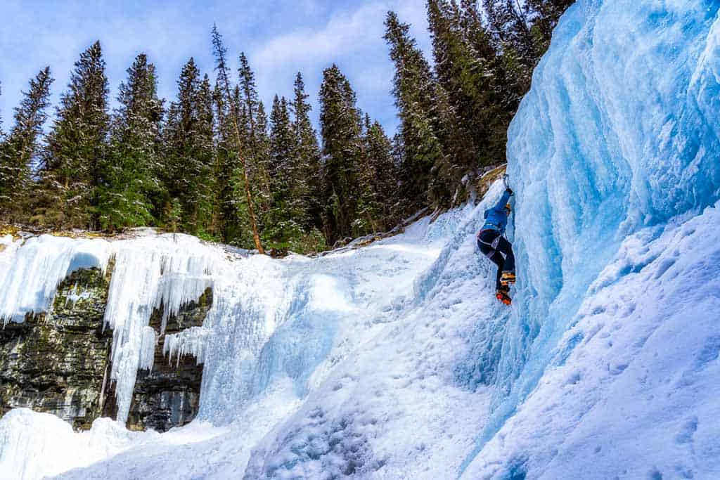 Alesha Ice Climbing Banff