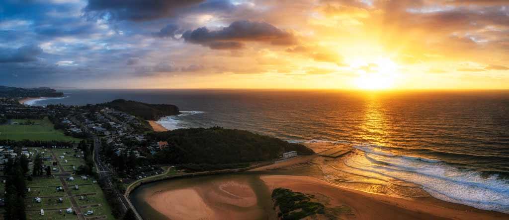 Narrabeen Beach Panorma Drone