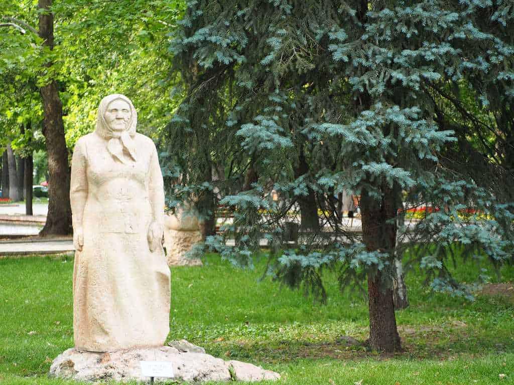 Statue In A Park In Bishkek