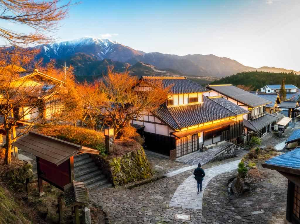 Magome Village Sunset Japan