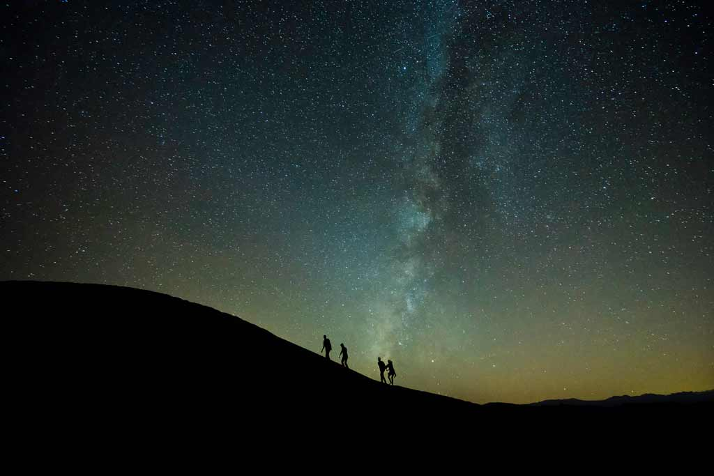 Time Blending Milky Way