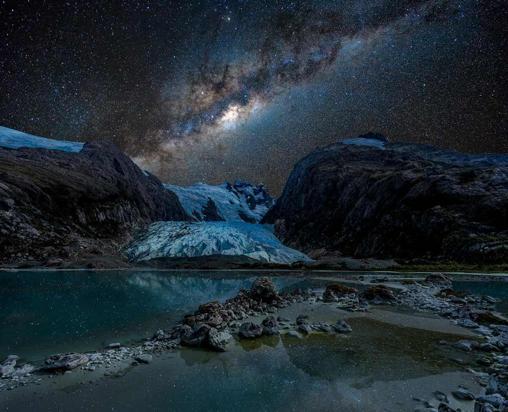 Bernal Glacier Milky Way