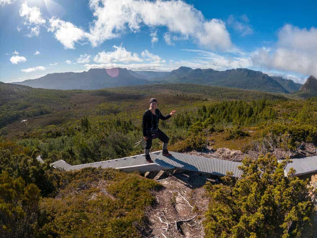 Alesha Enjoying Mount Ossa Views