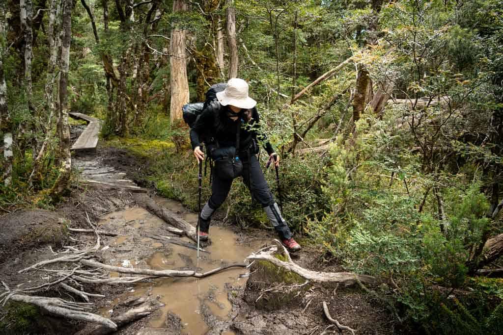 Alesha Walking Through Mud