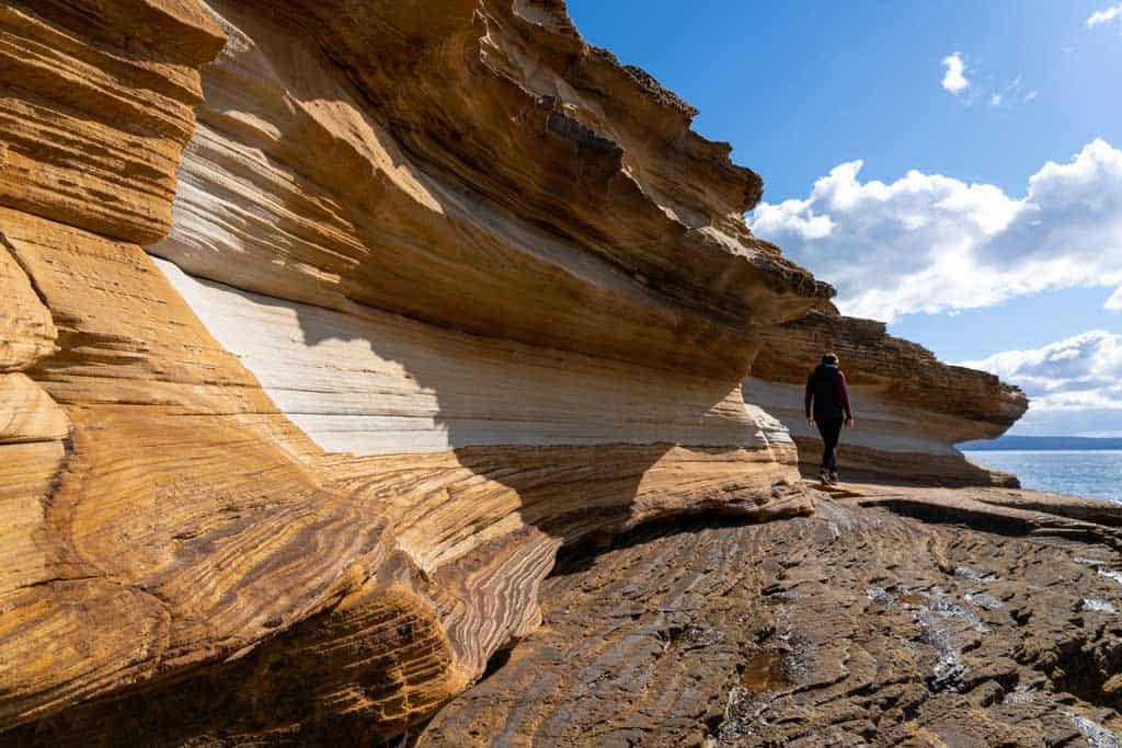 Alesha Walking Painted Cliffs Maria Island