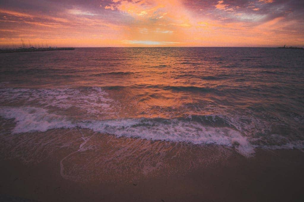 Sunset At Bathers Beach