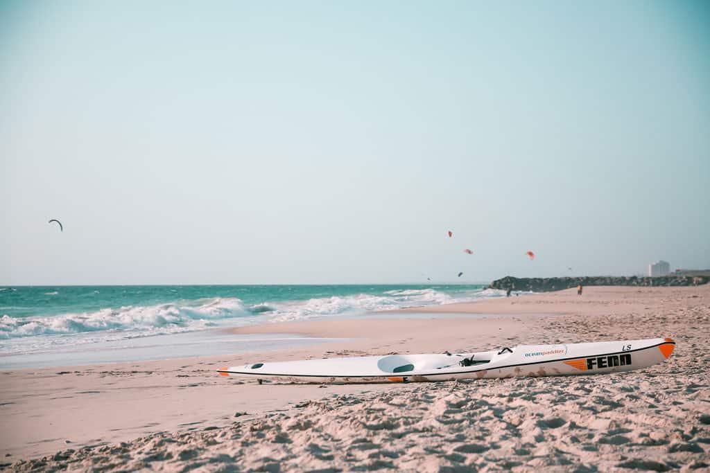 Sea Kayak On City Beach