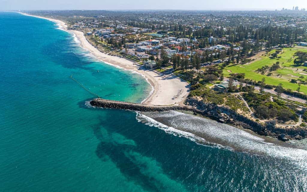 Drone Shot Of Cottesloe Beach