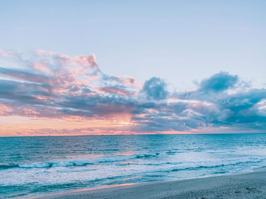 Indian Ocean Sunset In Perth