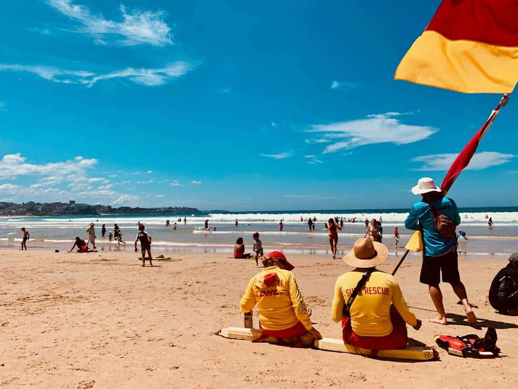 Surf Rescue People Watching The Beach