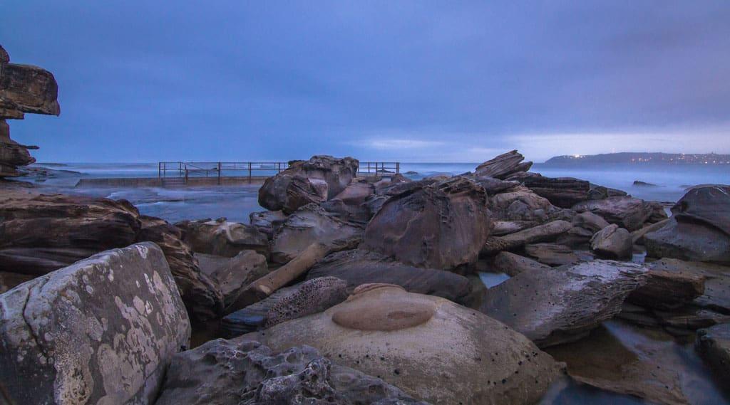 Rocks At North Curl Curl Beach Sydney Beaches