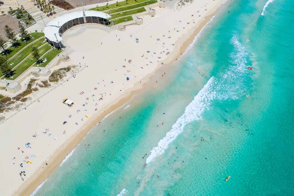 Best Perth Beaches Drone Shot Scarborough