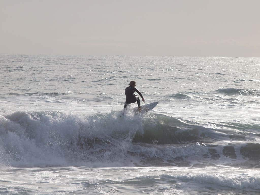 Surfer On Wave At Trigg Beach