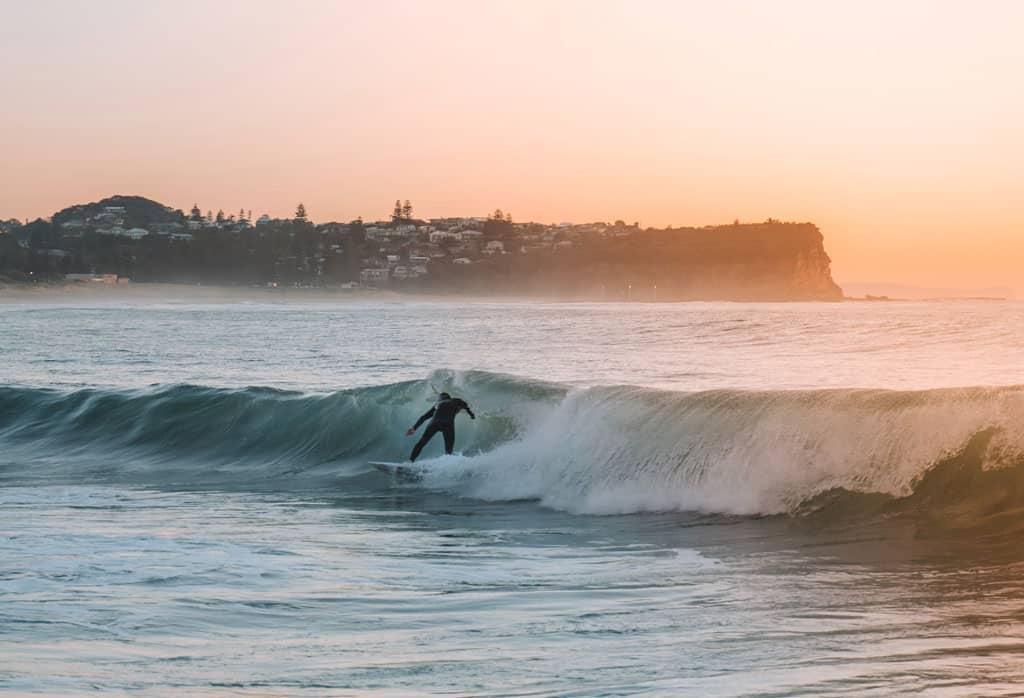 Sunrise Surfer Warriewood Beach