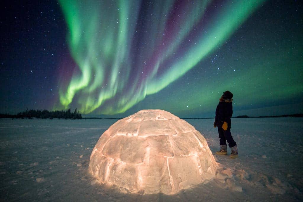 Aurora Borealis Igloo Yellowknife