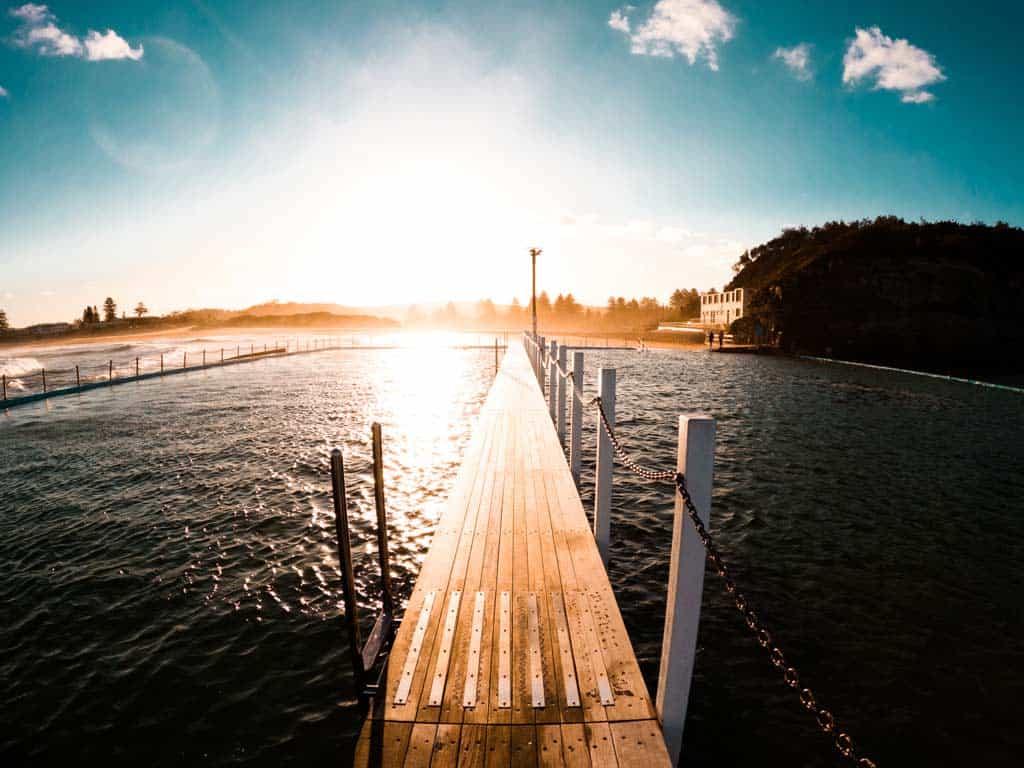 Narrabeen Pool Sunset Gopro