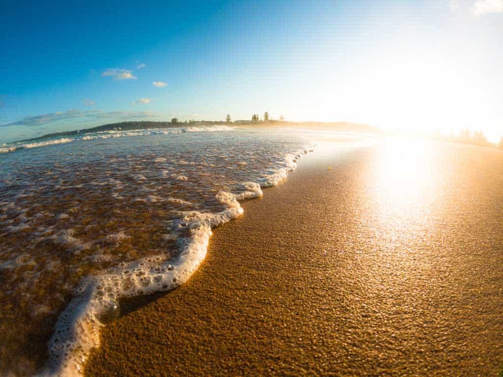 Beach Waves Sunset Hero10