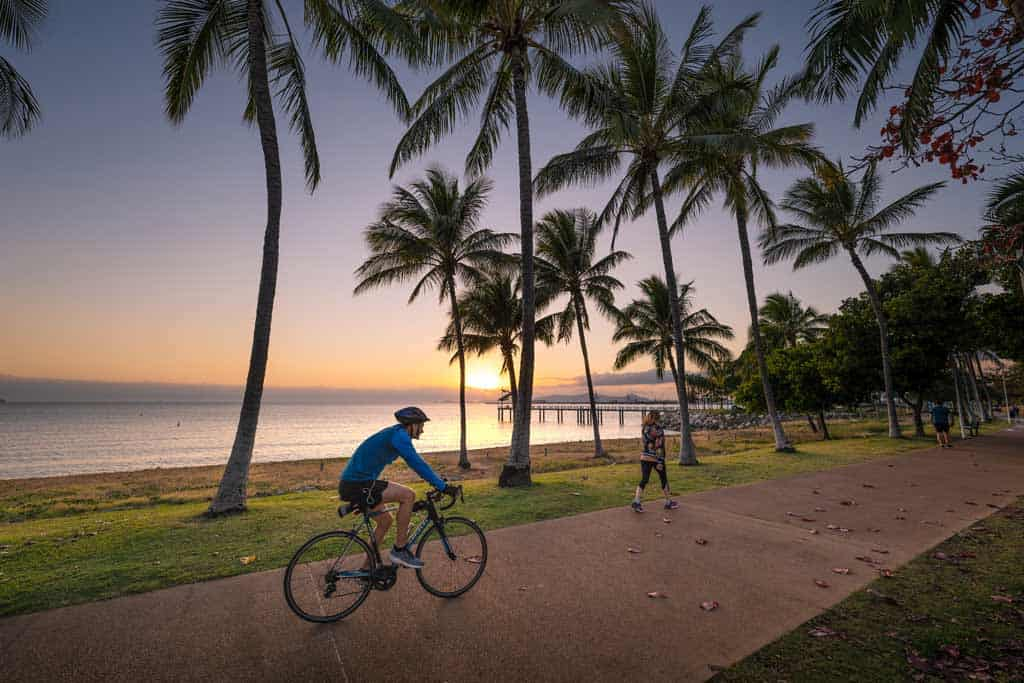 Riding A Bike On The Strand Townsville